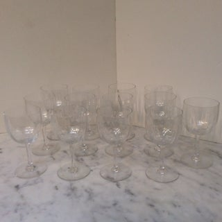 1970s Baccarat Montaigne Optic Water Goblets - Set of 13 Preview