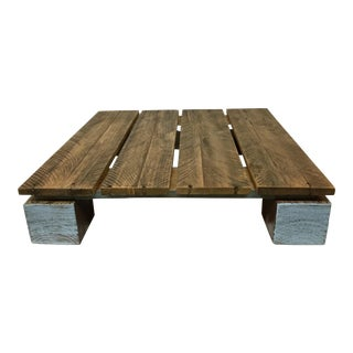 Low Reclaimed Hardwood Meditation Table For Sale