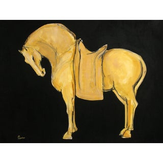 Sienna Tang Horse II Painting by Heidi Lanino For Sale