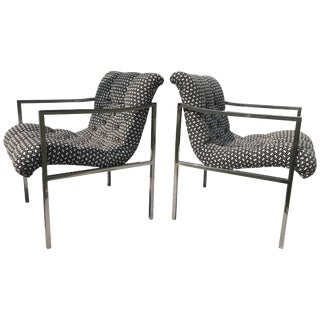 Milo Baughman Scoop Chairs - a Pair For Sale