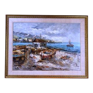 Pasargad DC Original Oil on Canvas Painting For Sale