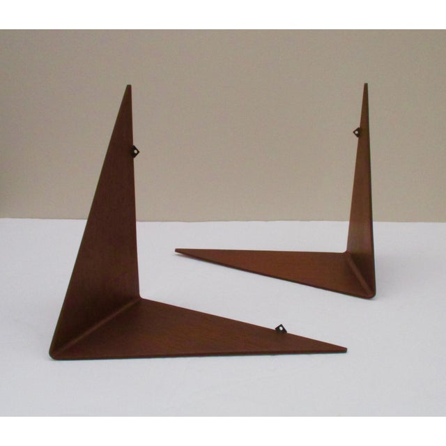 Poul Cadovius Cado Butterfly Teak Wood Shelves - Set of 2 For Sale - Image 9 of 13