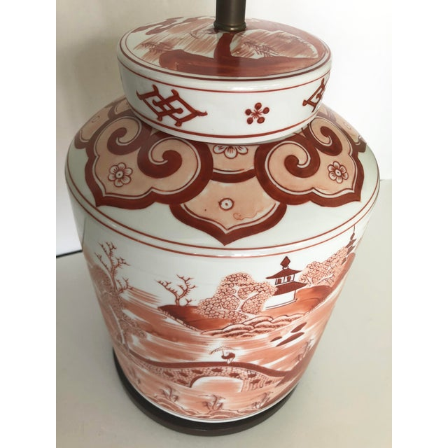 Norman Perry Chinoiserie Ginger Jar Style Lamp For Sale - Image 9 of 13
