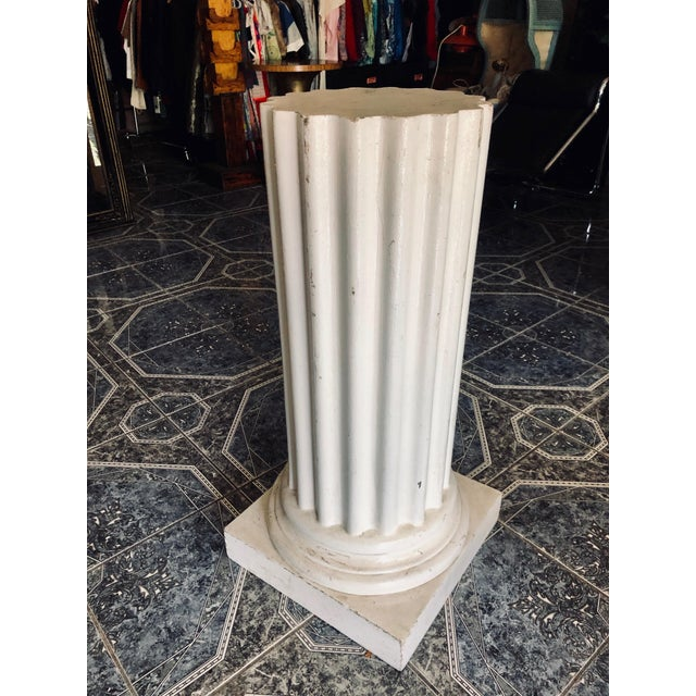 "A mold form pedestal is—Yes. Bodacious and elegant. This column does not have a bad angle. MEASUREMENTS: Overall - 19"" X..."