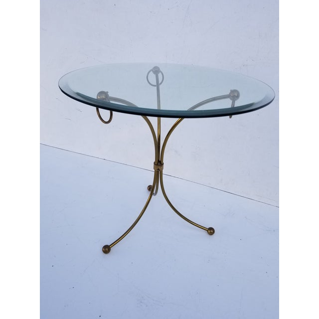 Metal Neoclassical Maison Jansen Style Gueridon Table For Sale - Image 7 of 9