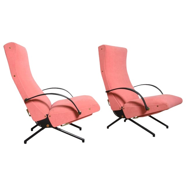 Set Osvaldo Borsani, P40 Lounge Chairs for Tecno For Sale