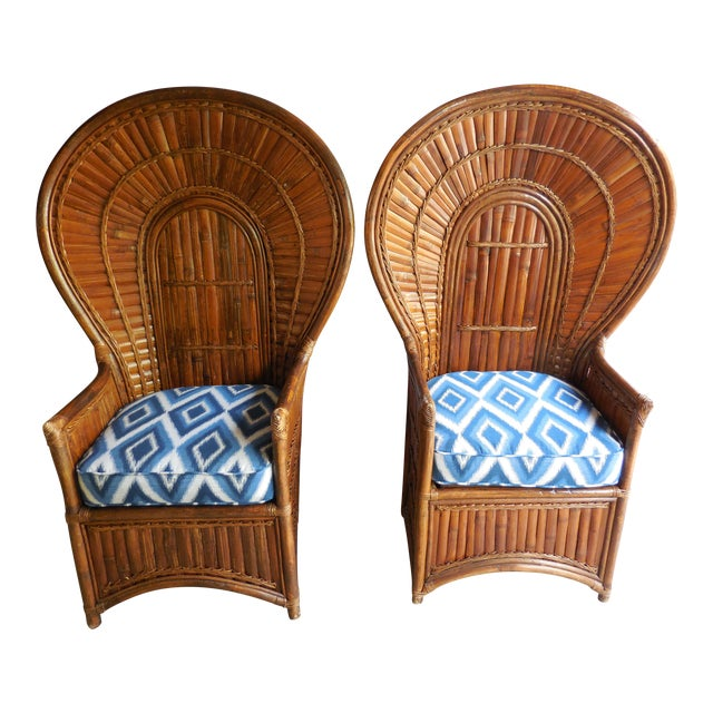 Vintage Bamboo Peacock Chairs - A Pair - Image 1 of 8