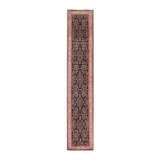 Pasargad Green Fine Hand-Knotted Sarouk Runner- 2'8'' X 19'11'' For Sale
