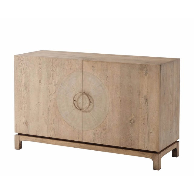Mid Century Oak Cabinet For Sale In New York - Image 6 of 6