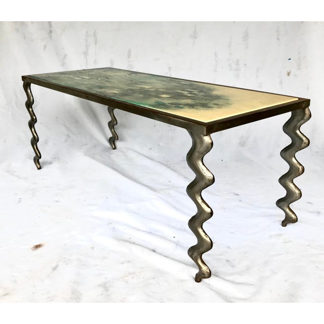 1980s Studio Made Post Modernist Steel Cocktail Table For Sale - Image 5 of 13