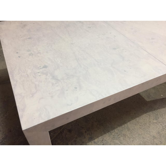 Whitewashed Milo Baughman Dining Table For Sale In New York - Image 6 of 8