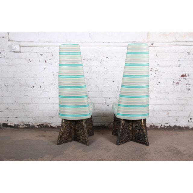 Adrian Pearsall Mid-Century Brutalist High Back Dining Chairs - Set of 4 For Sale - Image 10 of 13