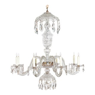 Period George III Cut Glass Lustre / Chandelier