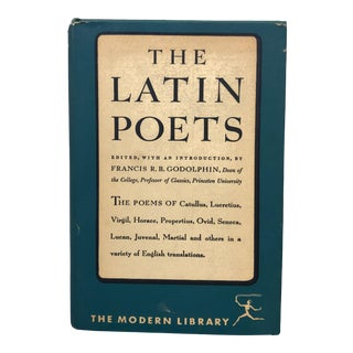 Vintage Latin Poetry Anthology for Decor For Sale