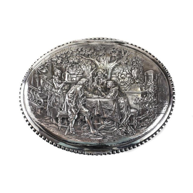 Circa 1905 George Roth German 800 Silver Footed Oval Box - Image 3 of 7