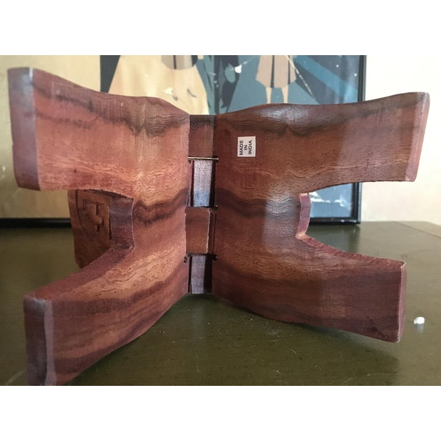 Hand-Carved Book Display Stand - Image 5 of 6
