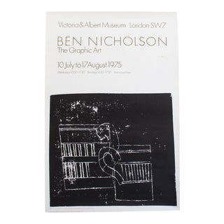 Modernist Ben Nicholson Exhibition Poster - the Graphic Art at the Victoria and Albert Museum