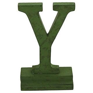 """Green Vintage Letter """"Y"""" For Sale"""