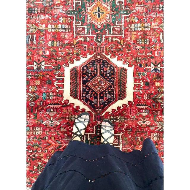 Antique Persian Karajeh Rug - 5′1″ × 6′2″ - Image 6 of 6