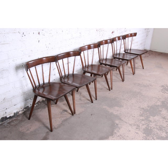Contemporary Paul McCobb Newly Refinished Planner Group Dining Chairs - Set of 6 For Sale - Image 3 of 13