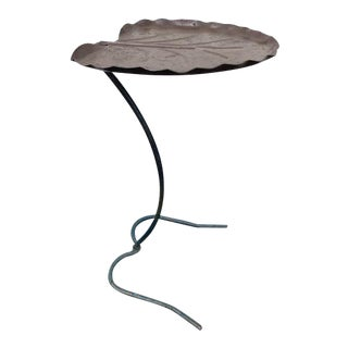 1950s Salterini Leaf Lily Pad Side Table For Sale