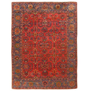 Antique Persian Lilihan Carpet For Sale