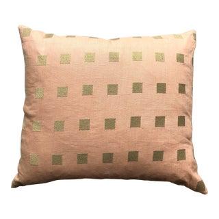 Rectangular Chalet Blush/Gold Pillow For Sale