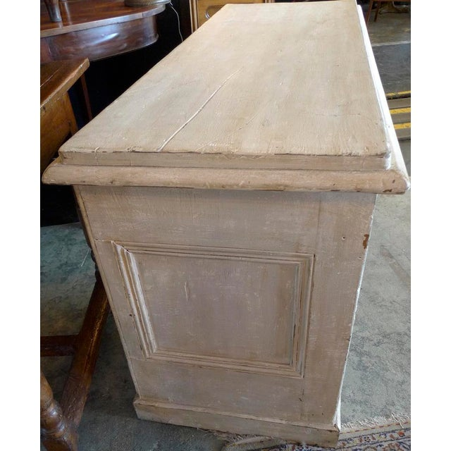 19th Century English XIX Painted Knee-Hole Partner Desk For Sale - Image 9 of 12