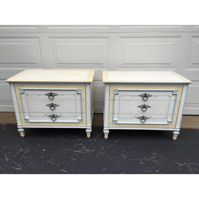 1970s Shabby Chic Johñ Widdicomb White Night Stands - a Pair For Sale - Image 9 of 9