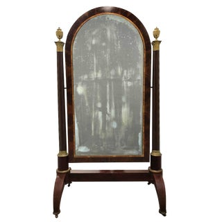 Early 19th Century French Empire Mahogany Dressing Mirror For Sale