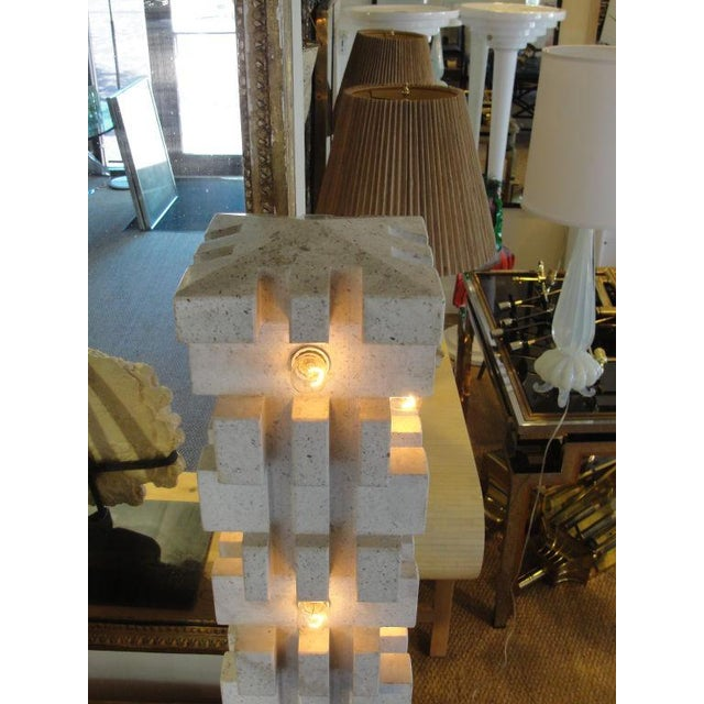 "Mangiarotti Marble Lamp ""Table or Floor"" - Image 5 of 5"