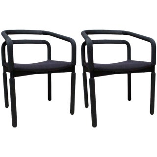 Metropolitan Black Desk Chairs - A Pair
