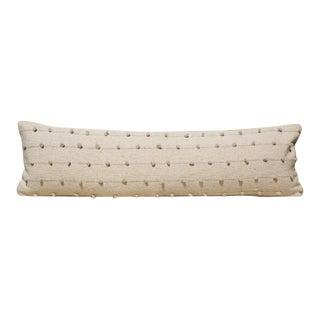 Lumbar Loops Cream Pillow Cover For Sale