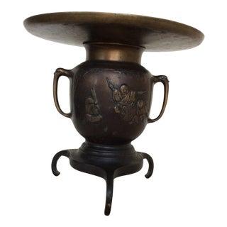 Asian Bronze Vessel With Figures