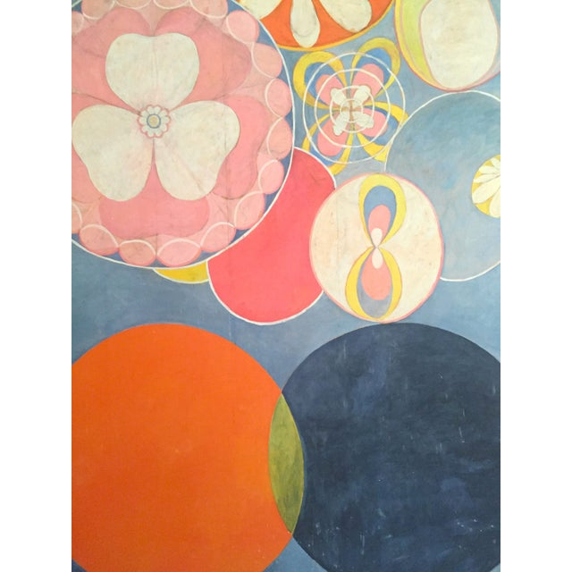 """Paper Hilma Af Klint Swedish Abstract Lithograph Print Moderna Museet Exhibition Poster """" the Ten Largest, Childhood No.2 Group IV """" 1907 For Sale - Image 7 of 11"""