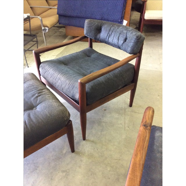Adrian Pearsall for Craft Lounge Chairs & Ottoman For Sale - Image 5 of 11
