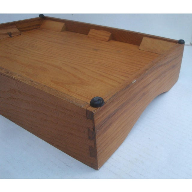 Office Desk Wood Letter and Mail Tray Basket For Sale In Richmond - Image 6 of 7