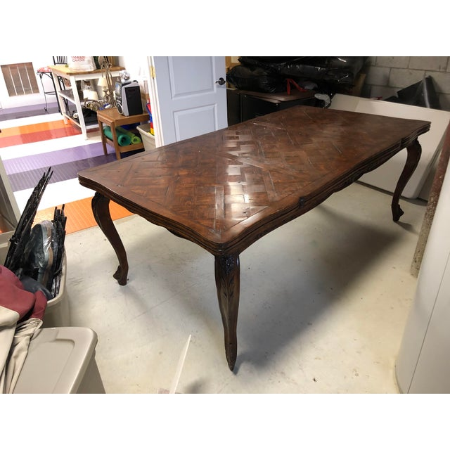 French Provencale Style Parquet Dining Table For Sale - Image 9 of 12