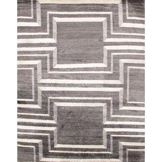 "Modern Bamboo Rug - 8'1"" X 10'3' For Sale"