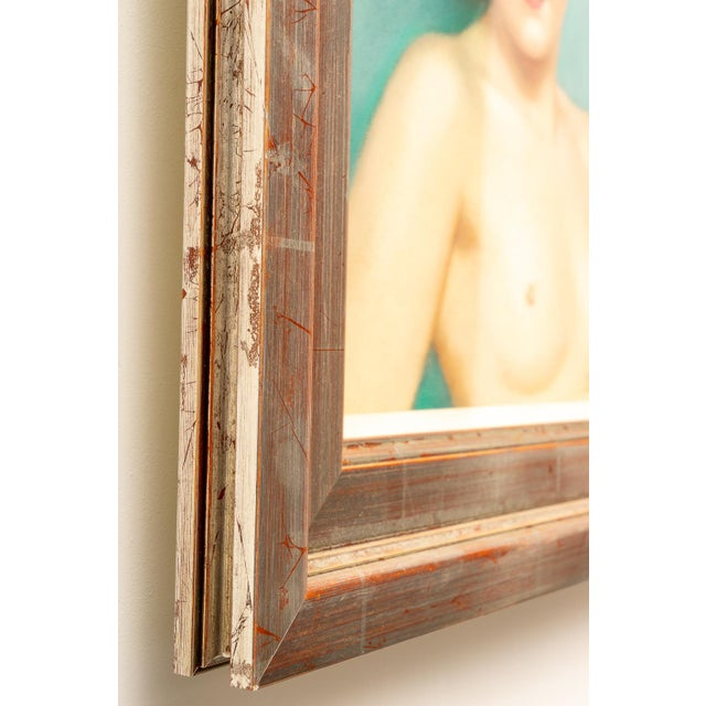 1920s Pastel Portrait Female Nude by Listed Artist Robert Louis Raymond Duflos For Sale In West Palm - Image 6 of 8