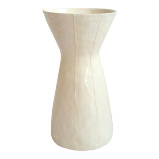 White Ceramic Vase For Sale