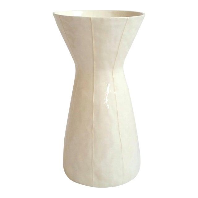 White Ceramic Vase For Sale