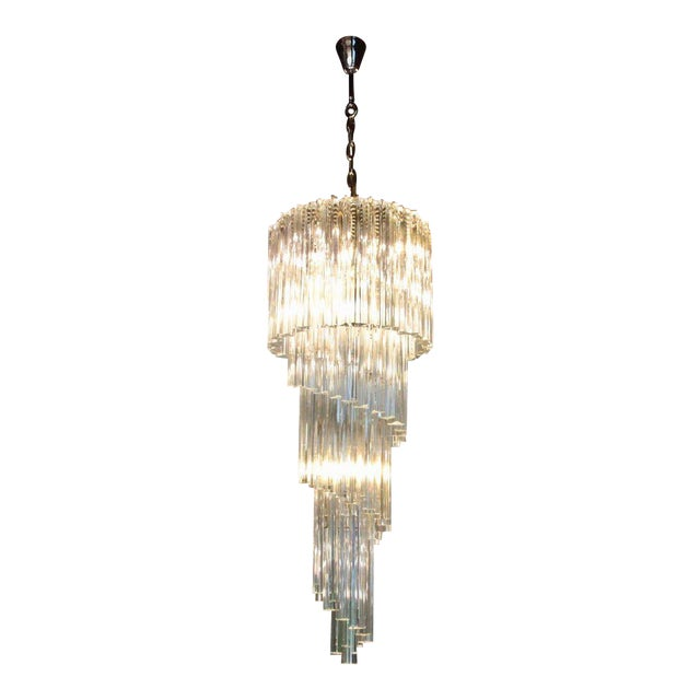 High end murano glass spiral chandelier by venini decaso murano glass spiral chandelier by venini image 1 of 5 aloadofball Images