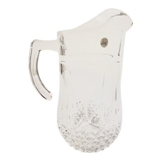 Vintage Crystal d'Arques-Durand Lead Crystal Pitcher For Sale