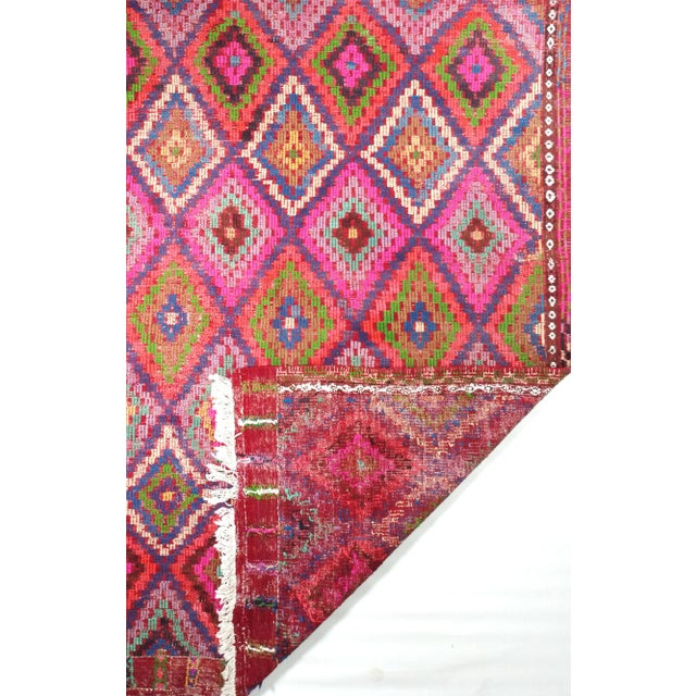 Mid Century Turkish Oushak Vintage Kilim Rug For Sale - Image 4 of 5
