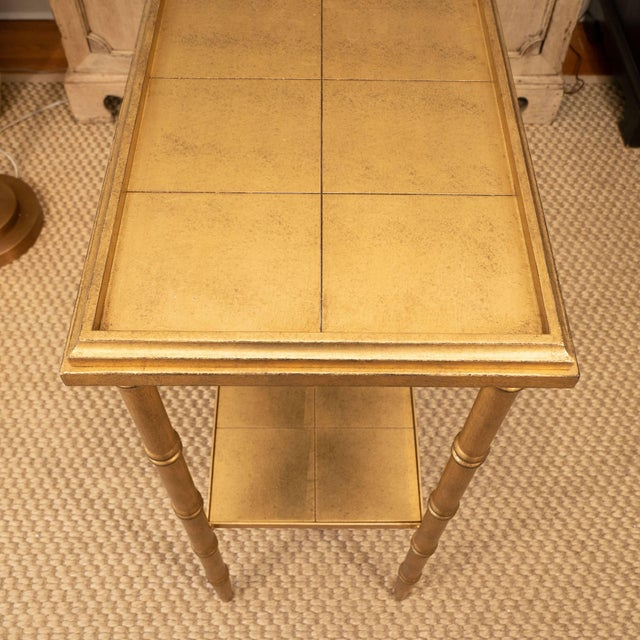 Gold Gold Console Table For Sale - Image 8 of 10