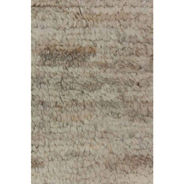 """Moroccan Hand Knotted Area Rug - 7'9"""" X 9'9"""" - Image 3 of 3"""