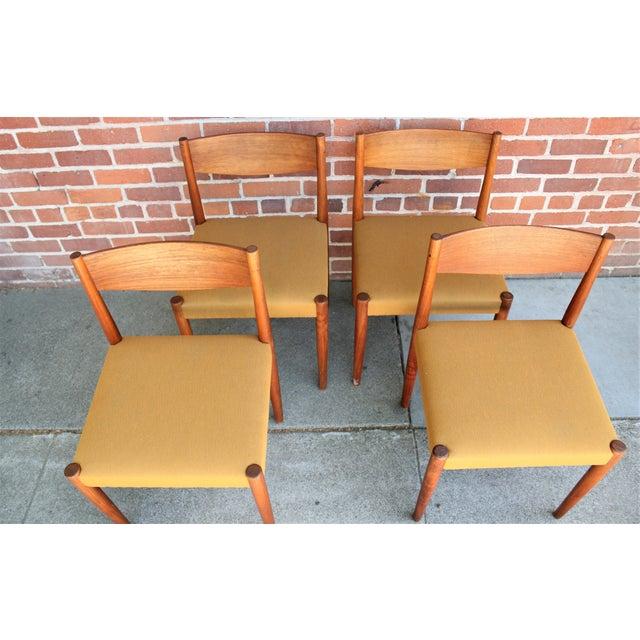 Danish Modern 1960s Vintage Danish Modern Teak Dining Chairs- Set of 4 For Sale - Image 3 of 13