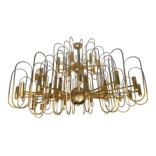 Xxl Brass Chandelier Astrolab by Sciolari. Italy, 1970s For Sale
