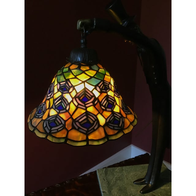 Vintage Dale Tiffany Desk Lamp With Shade For Sale In Richmond - Image 6 of 9